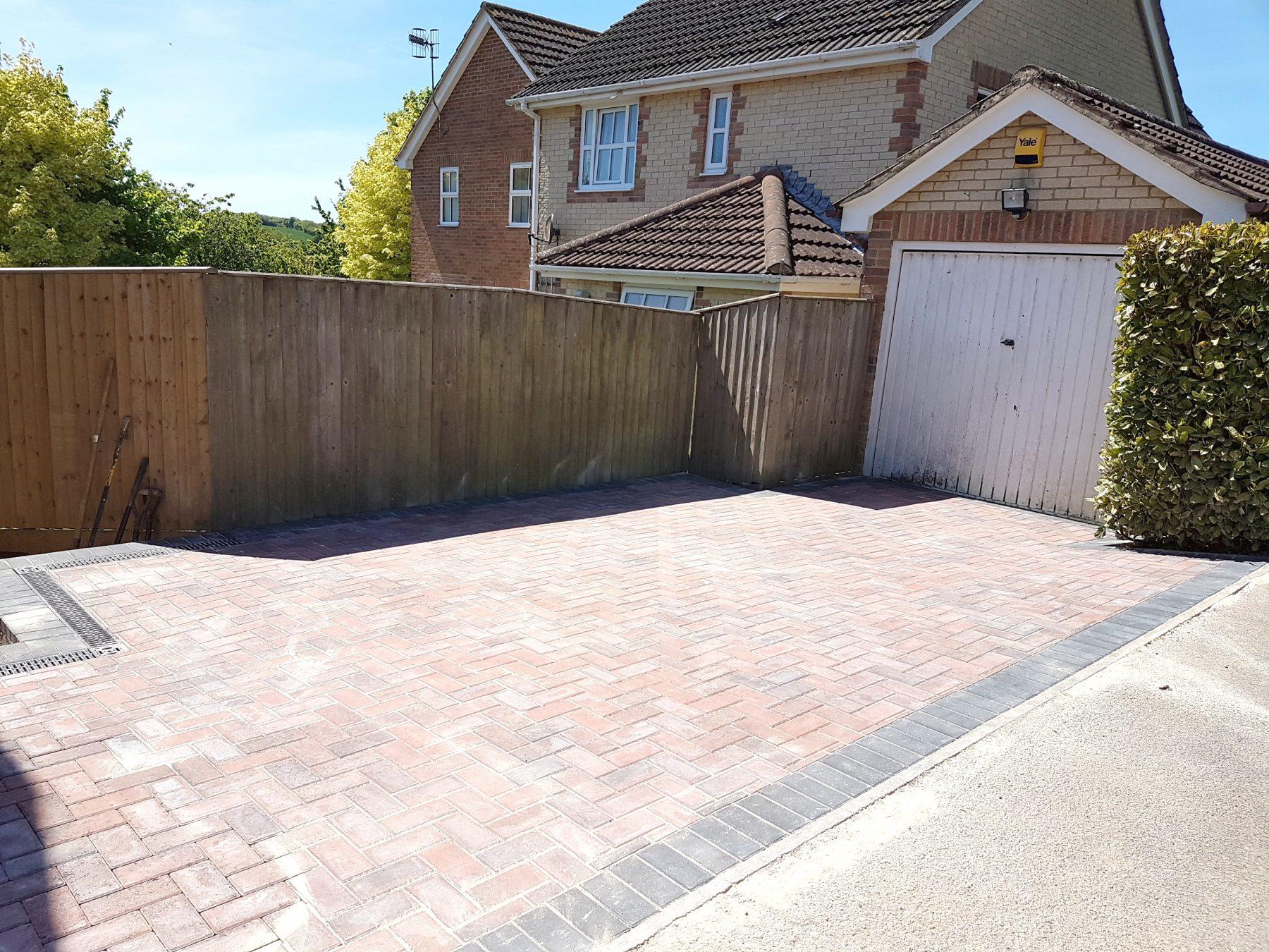 Block paving driveway in Marlborough